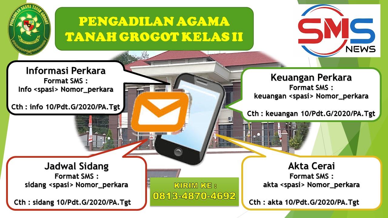 Layanan SMS Gateway Pengadilan Agama Tanah Grogot